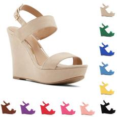 anklestrapssandal, wedge, Fashion, Women Sandals