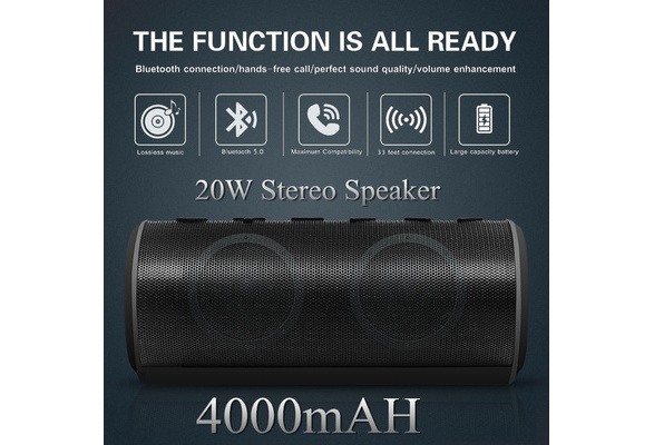 TWS Bluetooth Speakers Portable Wireless Speaker with Bluetooth 20W Big Migicbox Stereo Speaker with Bass Loud Volume Built-in Mic 12Hour Playtime for Cell Phone Android Home Outdoor Party Travel