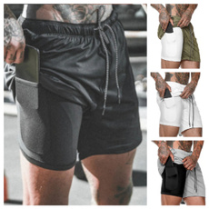 Shorts, Waist, Elastic, Fitness