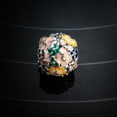 Charm Bracelet, Sterling, Flowers, Jewelry