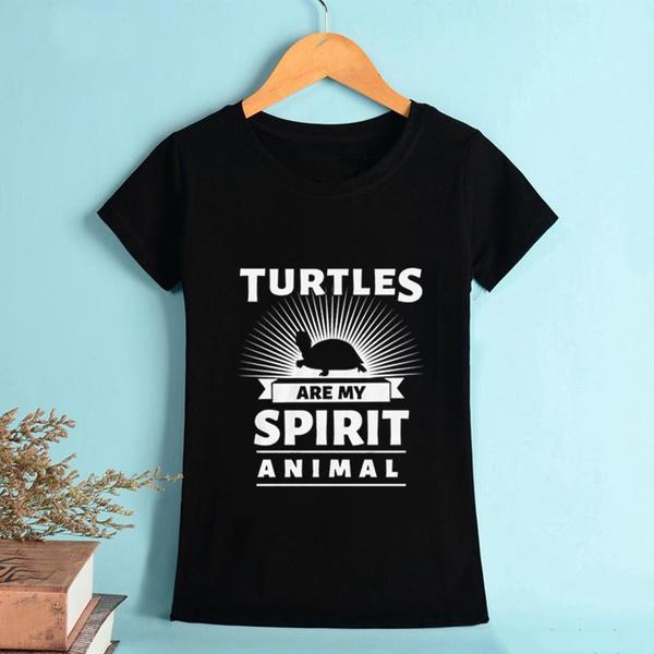 Turtle, sunmershirt, Cotton Shirt, ladyshirt