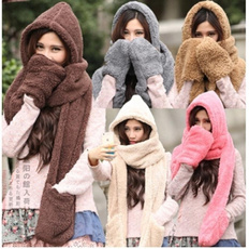 Pocket, Scarves, hooded, fur