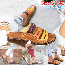 Summer, Sandals, Ladies Fashion, wedge