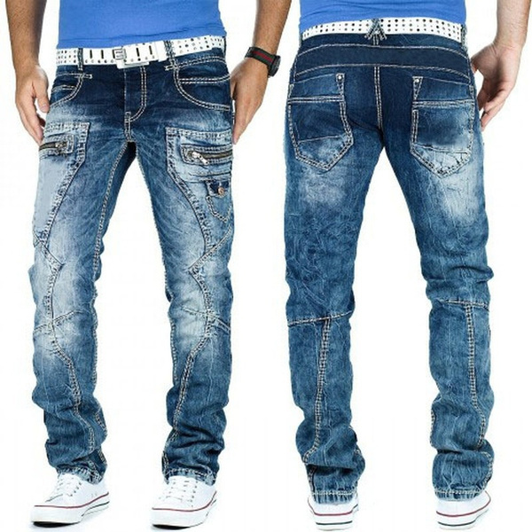 men's jeans, Fashion, clubwear, stonewashedjean