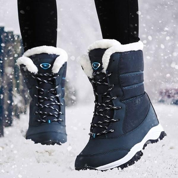 Casual Women Girls Winter Snow Boots Indoor Outdoor Comfortable Waterproof  Hiking Ankle Boots Bottes De Neige   Wish