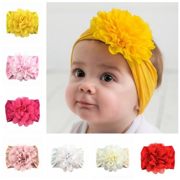 childrenshairaccessorie, Nylon, Flowers, babyheaddres