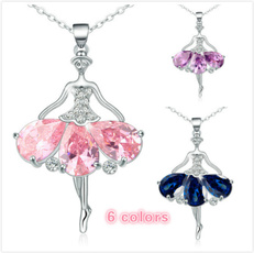 Cubic Zirconia, Chain Necklace, Fashion, dancernecklaceforgirl