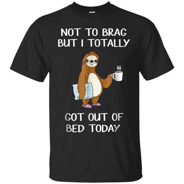 Funny, funnysloth, slothtshirt, Cotton Shirt