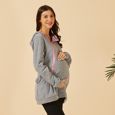 pregnantwoman, 动kangaroo, sweater coat, Coat