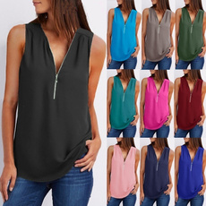 Summer, Moda, Tank, Shirt