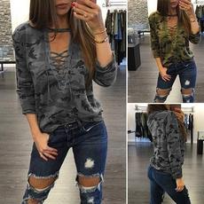 Fashion, Long Sleeve, Tops, women's fashion T-shirt