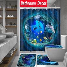 Bathroom, Bathroom Accessories, Waterproof, Shower Curtains