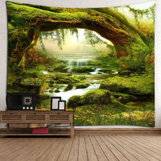 Decor, foresttapestry, art, mandalatapestry