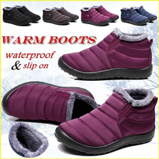 Thicken, Slip-On, Invierno, Womens Shoes