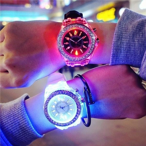 LED Watch, quartz, led, Jewelry