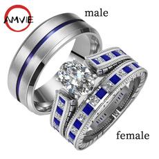 Sterling, Steel, Fashion, wedding ring