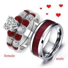 DIAMOND, wedding ring, titanium steel rings, Charm