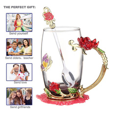 glasscup, Coffee, Handmade, flowercup