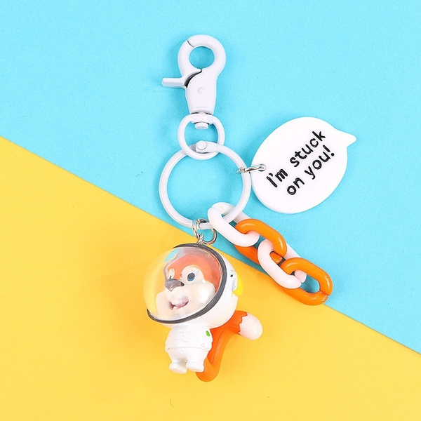 Key Chain, squirrel, Gifts, astronautkeychain