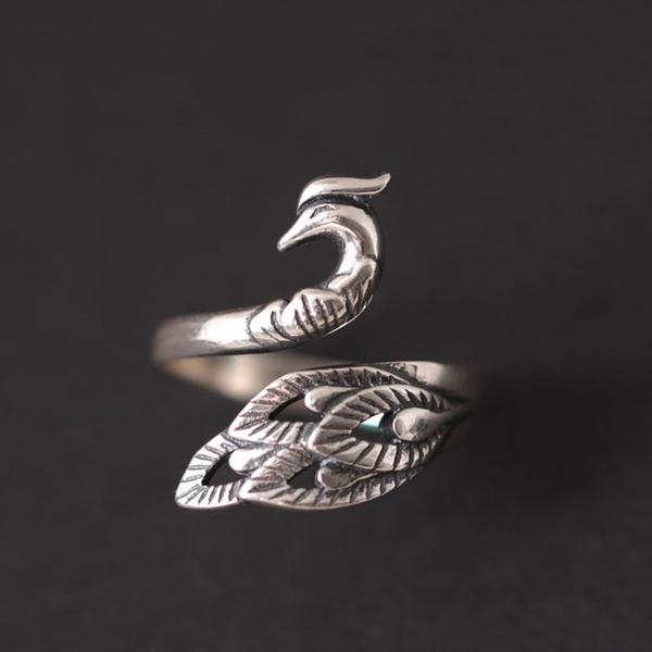 peacock, Fashion, 925 sterling silver, wedding ring