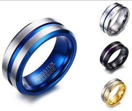 Steel, 8MM, womens ring, bandring