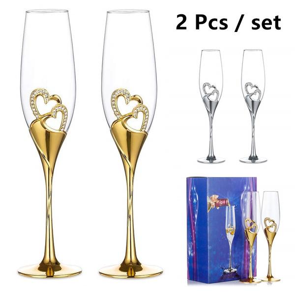 Heart, DIAMOND, weddingglasse, Jewelry