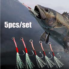 Steel, 5pcssetfishhook, fishinghooksforfishing, fish