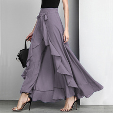 palazzopant, ruffle, Casual pants, long dress
