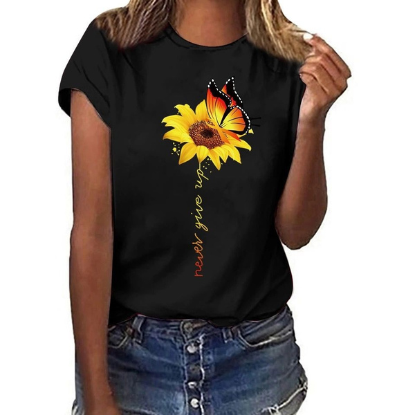 Summer, Fashion, Sunflowers, graphic tee