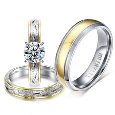 Couple Rings, Cubic Zirconia, DIAMOND, Jewelry