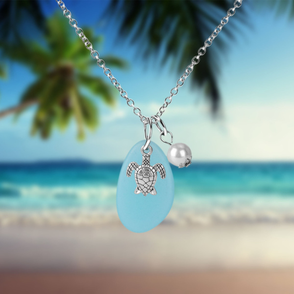 Sea Glass Beach Jewelry Ocean Necklace