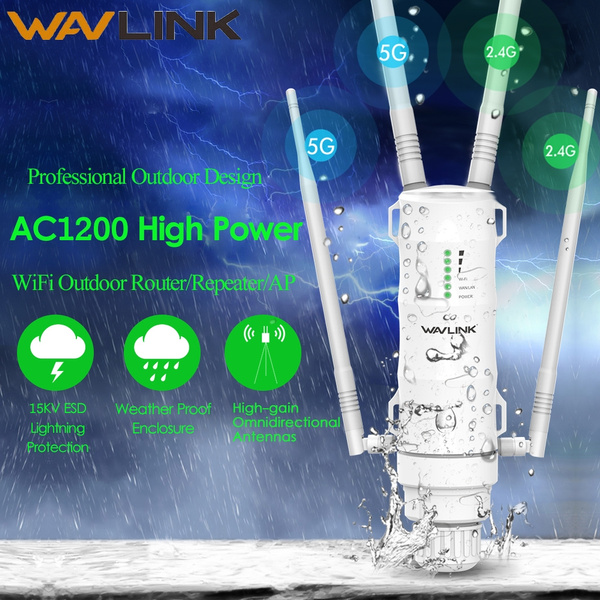 Outdoor Wifi Extender Wavlink Ac1200 Dual Band High Power Outdoor Weatherproof Wireless Ap Repeater Router With Poe And High Gain Antennas Wish