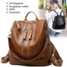 brown, School, Fashion, women backpack