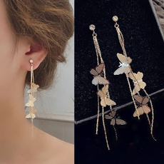 butterfly, Dangle Earring, Jewelry, wedding earrings