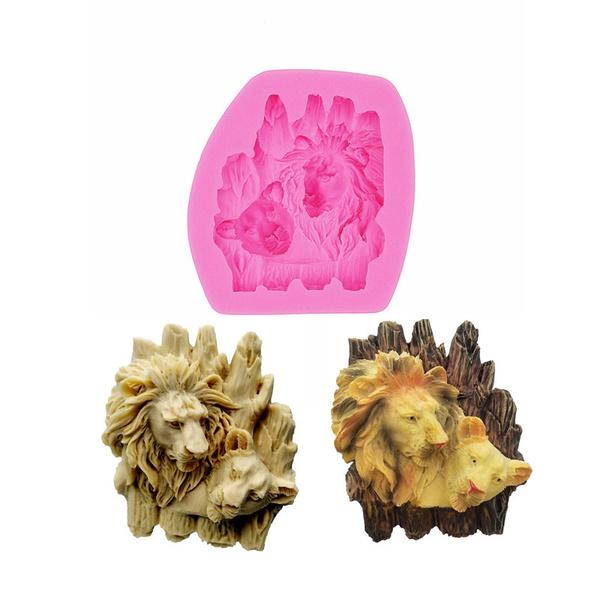 Head, lionheadmould, fondantmold, polymermould