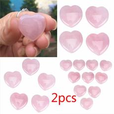 pink, Heart, crystalhealing, quartz