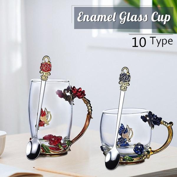 butterfly, Coffee, Flowers, bluerosecup