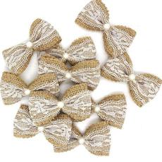 bowknot, Lace, burlaphessian, pearls