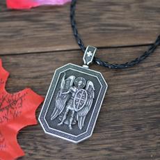 Necklace, archangel, saintmichaelnecklace, sword