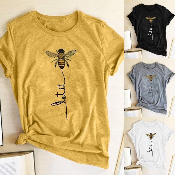 cute, Shorts, Shirt, letter print