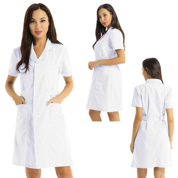 scrubswomen, nursingdres, Scrubs, Long Coat
