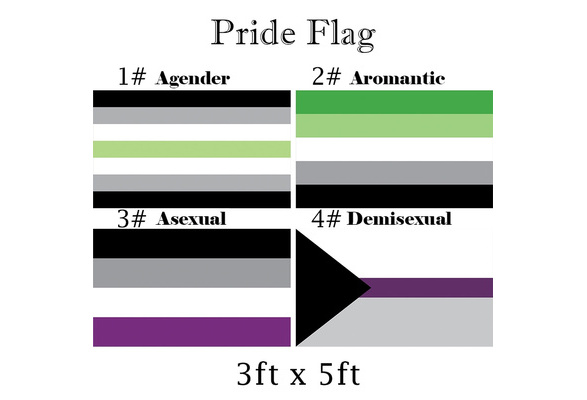 FSFLAG Agender Flag LGBTQ Flaggen Dekorationen mit zwei Messing/ösen Agender Pride Flagge Pride Month Flagge 3 x 5