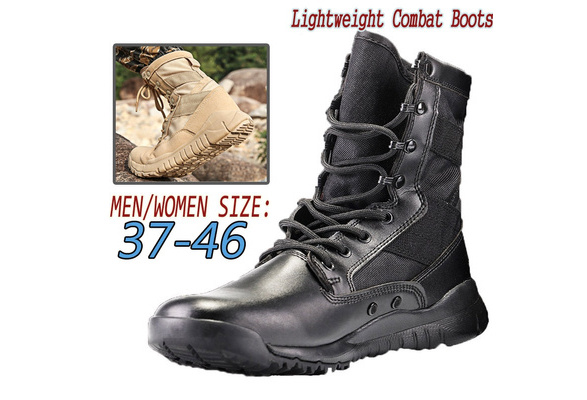 Men/'s Military Tactical Combat Army Boots Lightweight Outdoor Hiking Work Boots