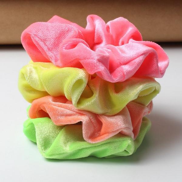scrunchie, velvet, Colorful, Elastic