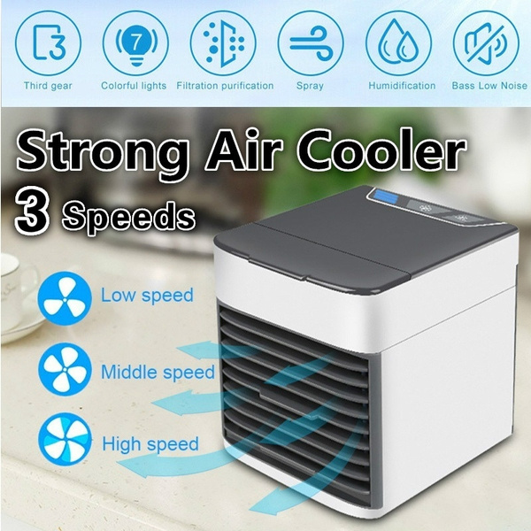 Mini Portable Air Conditioner Humidifier Purifier 7 Colors Light Personal  Air Cooler Air Cooling Fan for Home Office Room | Wish