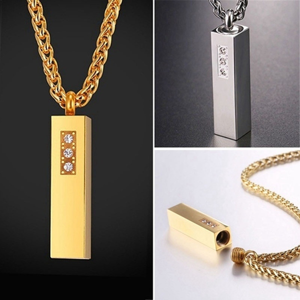 Steel, Chain Necklace, DIAMOND, Stainless Steel