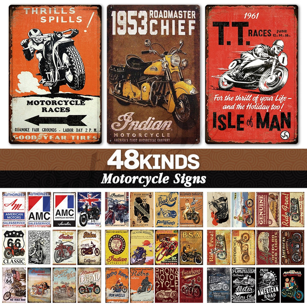 Decor, Vintage, motorcyclesign, Metal