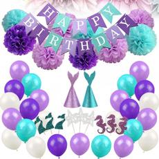 happybirthday, Decor, mermaidpartyfavor, happybirthdaybanner