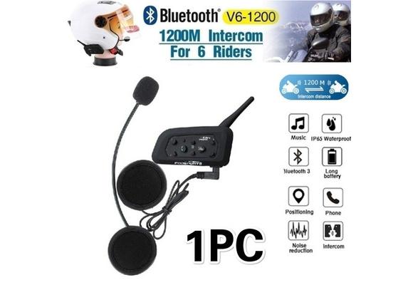 QSPORTPEAK Motorcycle Headset Bluetooth 4.1 Helmet Headphones Bluetooth Helmet Speakers Earphone Intercom for Helmets Wireless Headphones with Microphone Sound System for Motorcycle