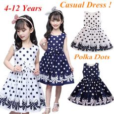 Summer, girls dress, Polkas, kidsprinteddre